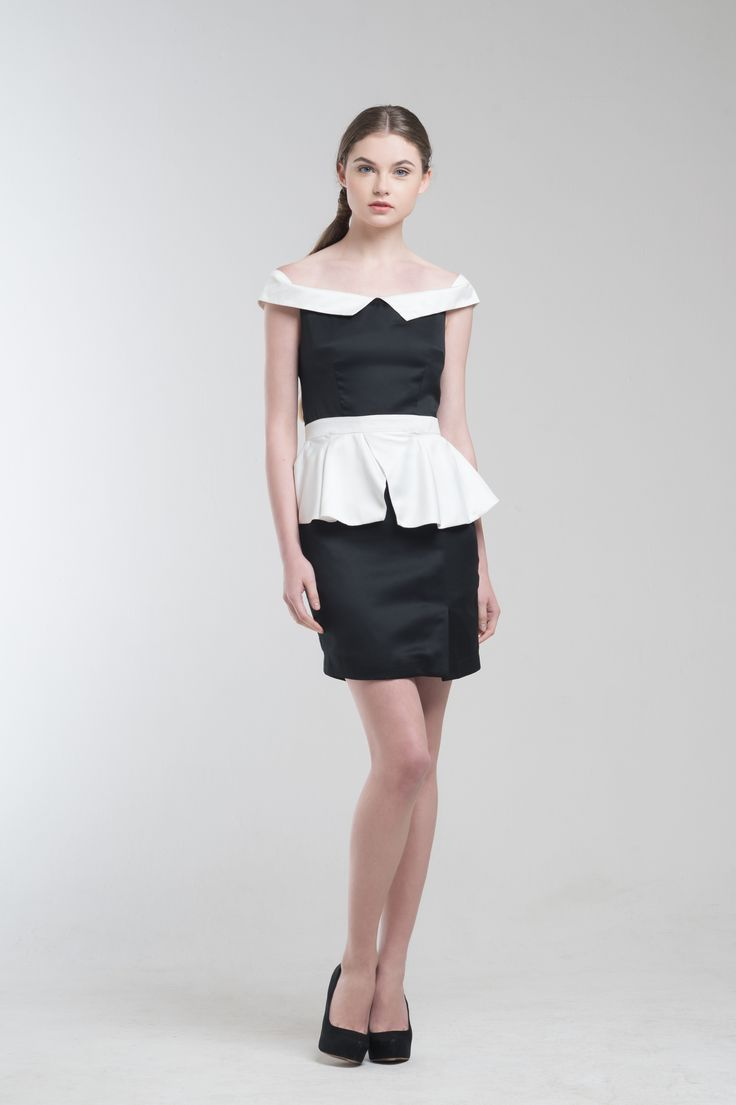 Flynn Offshoulder Peplum Dress from Jolie Clothing  #JolieClothing www.jolie-clothing.com  #Fashion #designer #jolie #Charity #foundation #World #vision #indonesia  #online #shop #stefanitan #fannytjandra #blogger