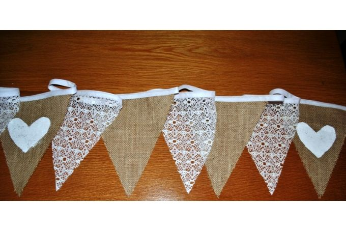 Vintage Bunting 4m by Lattice and Lace on hellopretty.co.za