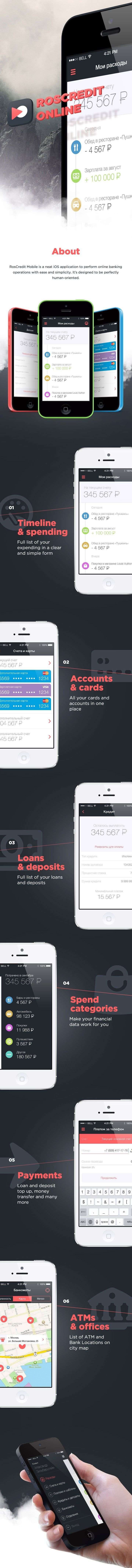 Roscredit Bank : mobile application design - #ux #ui