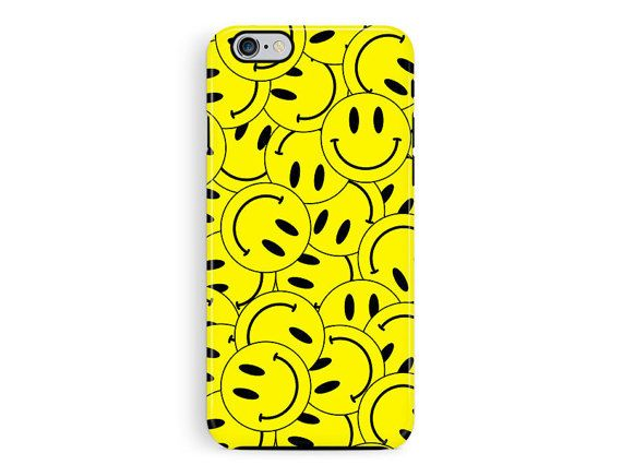 Protective iPhone 6 Case, Protective Phone Cover, Acid iPhone 5 protective case, Smiley face phone case, bumper cases, Hard iphone 6 covers