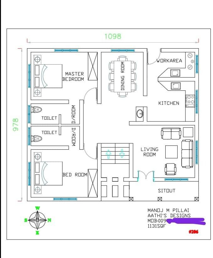 1131 Square Feet 2 Bedroom Single Floor Modern Amazing Home And Plan Home Pictures Eas Home Design Floor Plans Small House Design Plans House Layout Plans