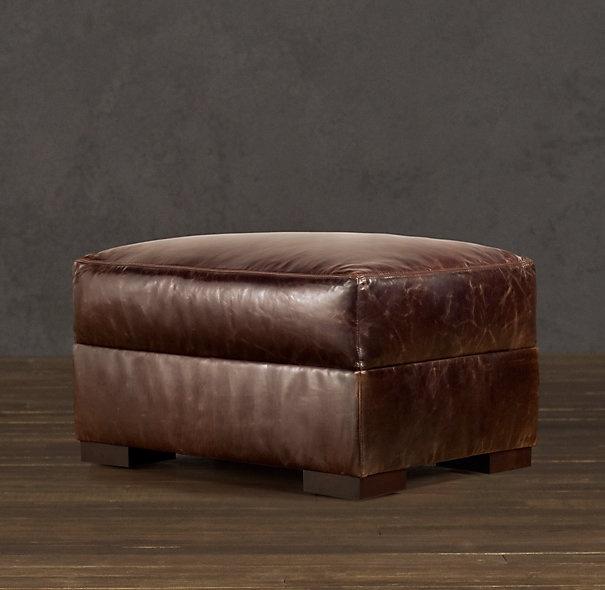 Maxwell Leather Ottoman Leather Ottoman Ottoman