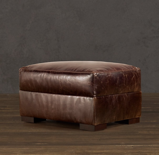 Ottoman To Match Restoration Hardware Leather Chair Maxwell My House Pi