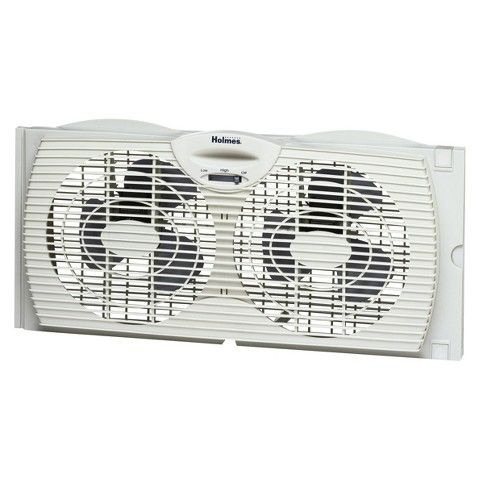 Holmes Twin Window Fan At Target? This twin window fan with reverse airflow control works double duty to intake cooler, outside air while warm indoor air is exhausted out. Use as an alternative to air conditioning and help save energy costs, with maximum effectiveness to cool house in evening hours. Runs quietly for placement in bedroom and living room so you can enjoy a comfortable, peaceful environment even while you sleep. Two speed settings provide more personalized level of comfort…