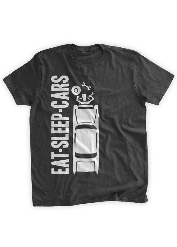 Eat Sleep Cars T-Shirt Mechanic T-shirt Classic Car Hobby Car Guy Hobbies Gifts for Dad Mechanics Family Mens Ladies Womens Kids T-shirt