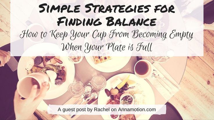 Simple Strategies for Finding Balance