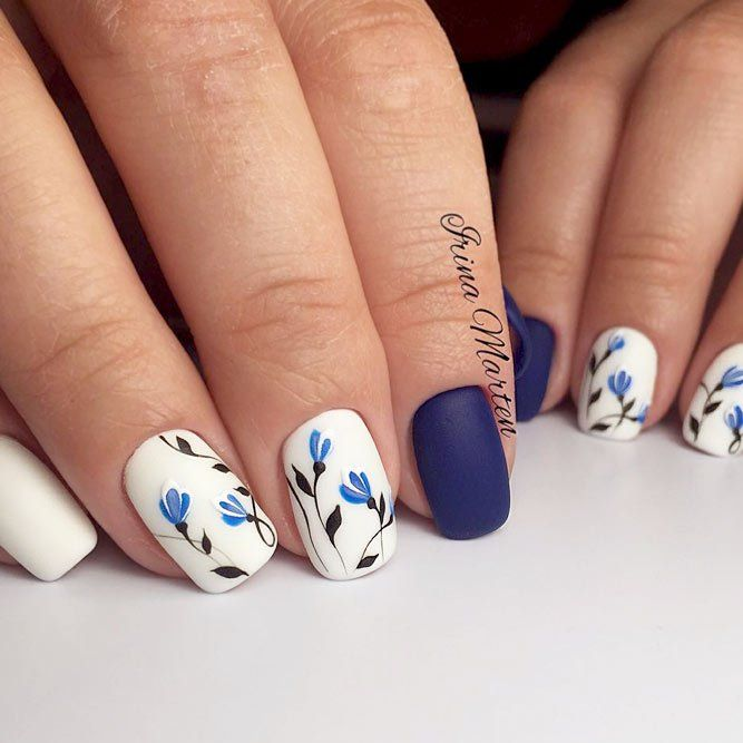 Top 50 Best Business Casual Nails 2018blue nail 2018