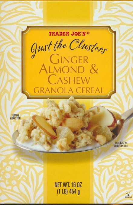 ... cashew joe shopping clusters ginger cashew granola trader joe s 16 oz