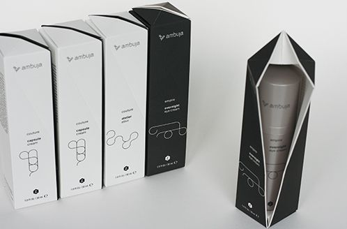 Ambuja cosmetics packaging by Legard Forschungsatelier  Simplicity in black and white #packaging  #design. Love this #graphicdesign