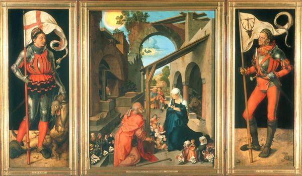 Albrecht Dürer, Paumgartner-Altar: Geburt Christi, um 1500. Alte Pinakothek.