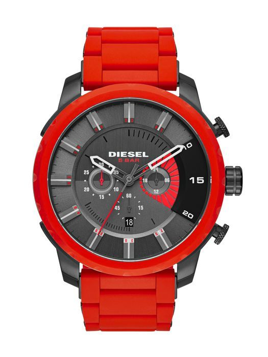 Diesel Stronghold Watch - Men& Watches in Red