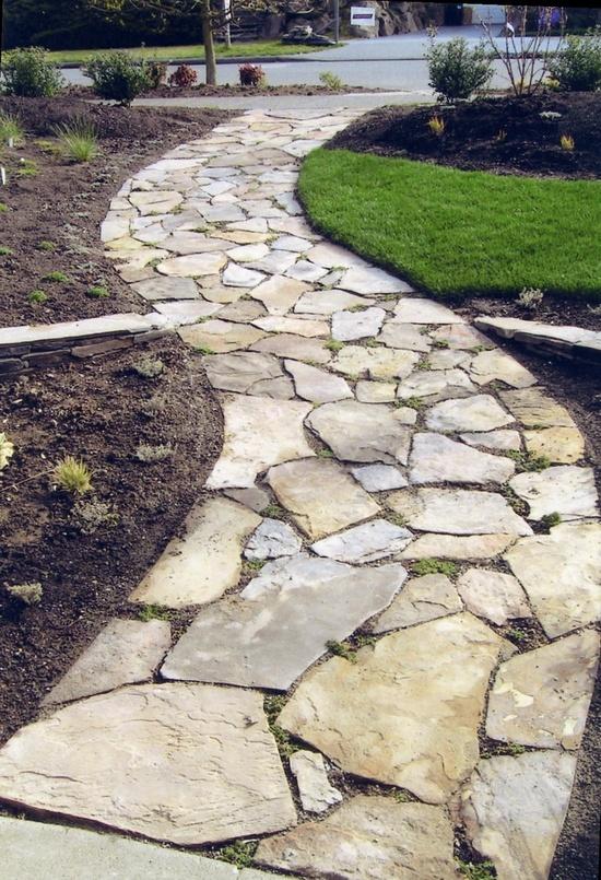 mooi pad door de tuin