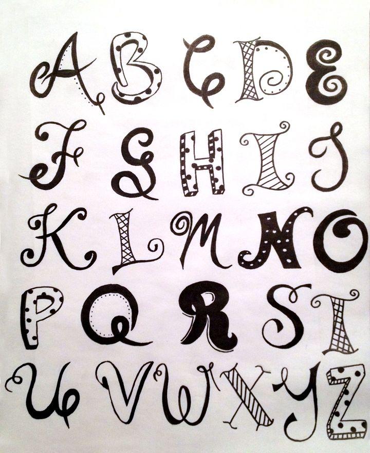 Handlettered Alphabet #1 by Ashley Bojc