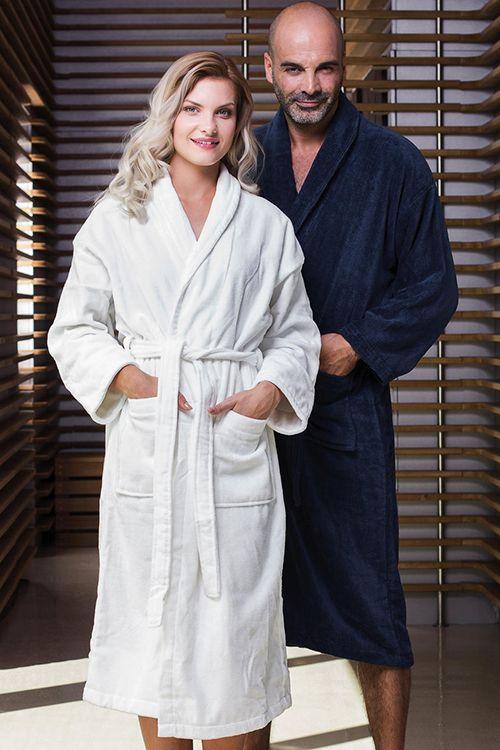 Halat baie Unisex  Como Velours Towels by Jassz din 100% bumbac catifelat #personalizare #halate #baie