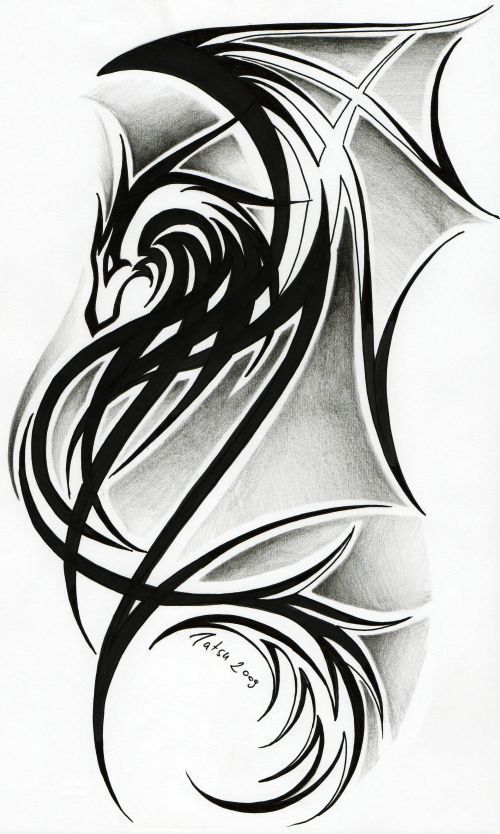 celtic dragon tribal tattoos | Dragon tattoo II. by *Tatsu87 on deviantART: