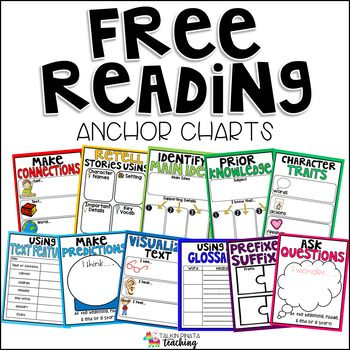 Even the most excitable teacher can get tired of making Anchor Charts for Read standards! These Reading Comprehension Anchor Charts are easy to print, laminate, and use right away! They can be printed on poster paper to easily be placed on a whiteboard or easel.***If there is a reading skill you need.