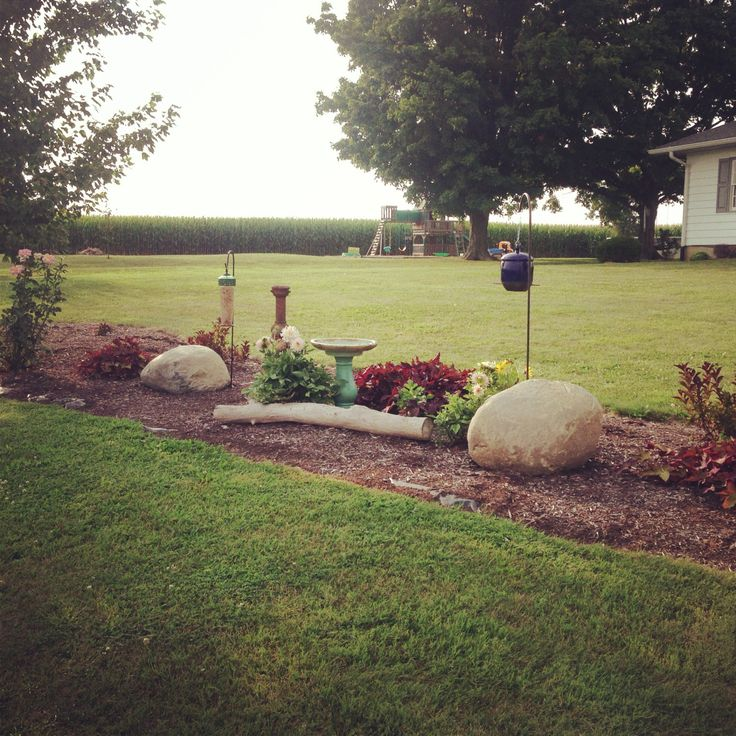 New flower bed in the side yard