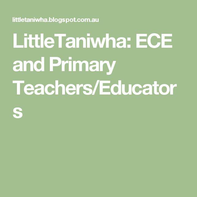 LittleTaniwha: ECE and Primary Teachers/Educators