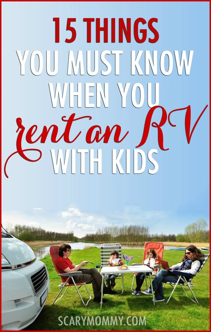 Have you considered renting an RV and taking a family road trip? It's a great vacation option - but PREPARE YOURSELF by making sure you're aware of these 15 important things!  summer | spring break | parenting humor | kids | travel