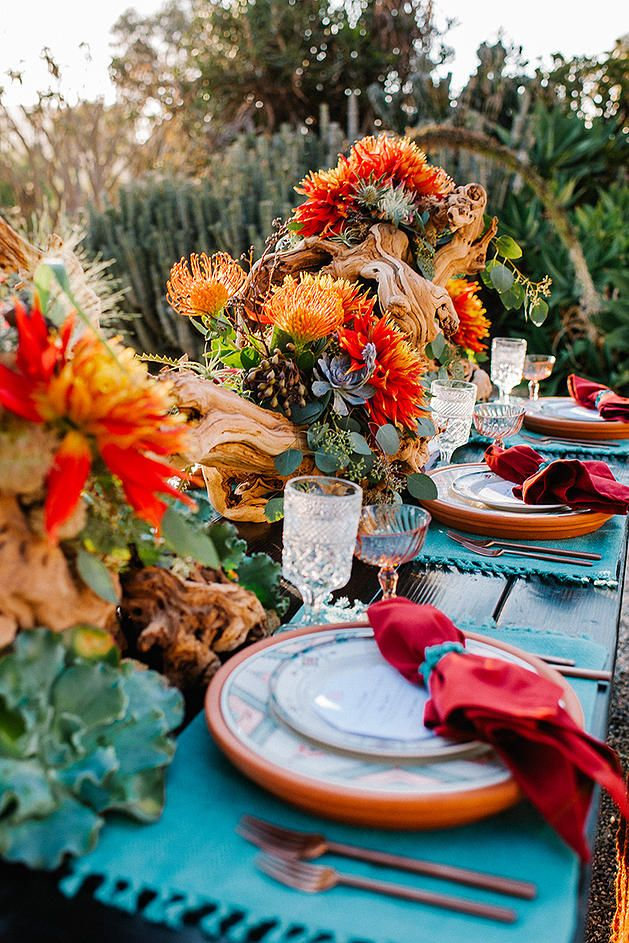 Rich Colors for an Outdoor Desert Wedding for the Nontraditional Boho Bride | Always Flawless Productions | San Diego's Best Wedding Planner | Desert Wedding Inspiration