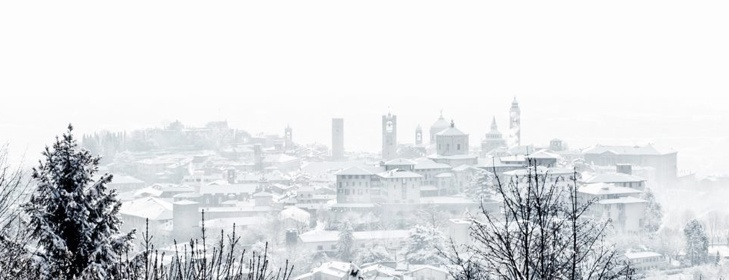 Bergamo alta sotto la neve - Bergamo candidata Capitale Europea della Cultura 2019