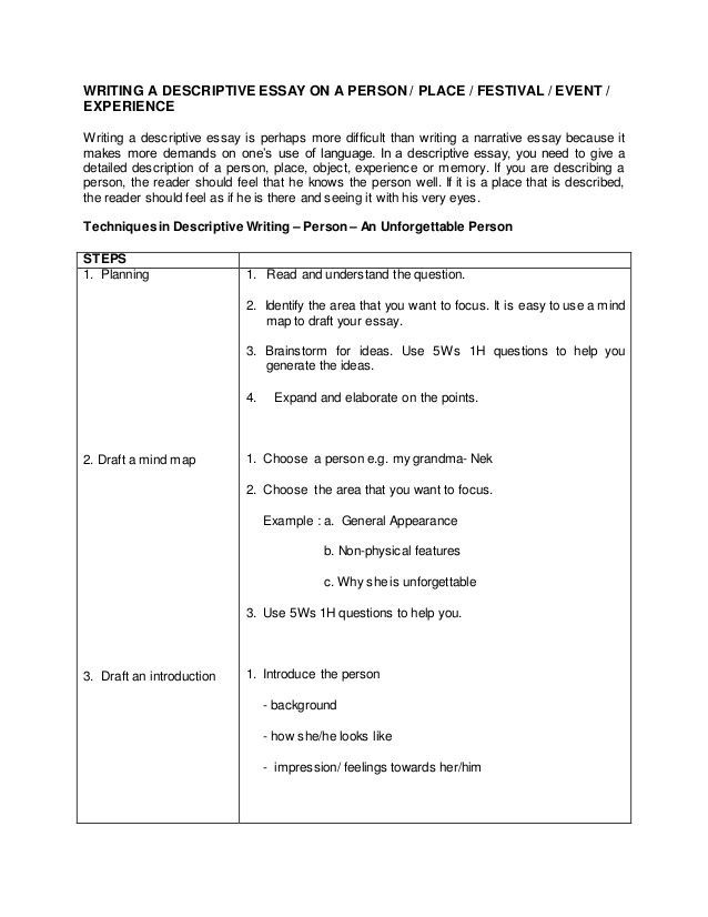 Describe Event Essay Descriptive Outline I Introduction There An That Just Can A One Of The Be Narrative Easy On Place
