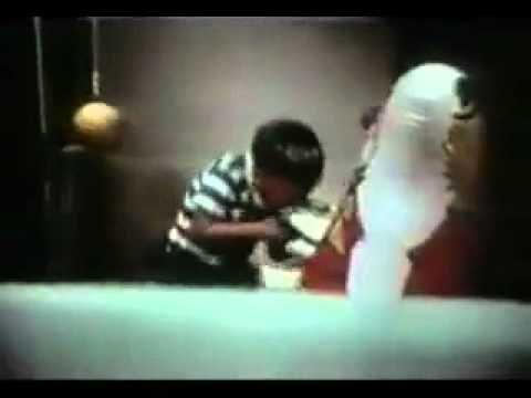 Classic Bobo Doll experiment featuring Albert Bandura explaining the study.