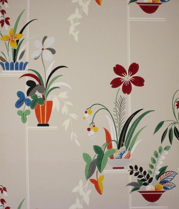1940's Vintage Wallpaper Large Floral