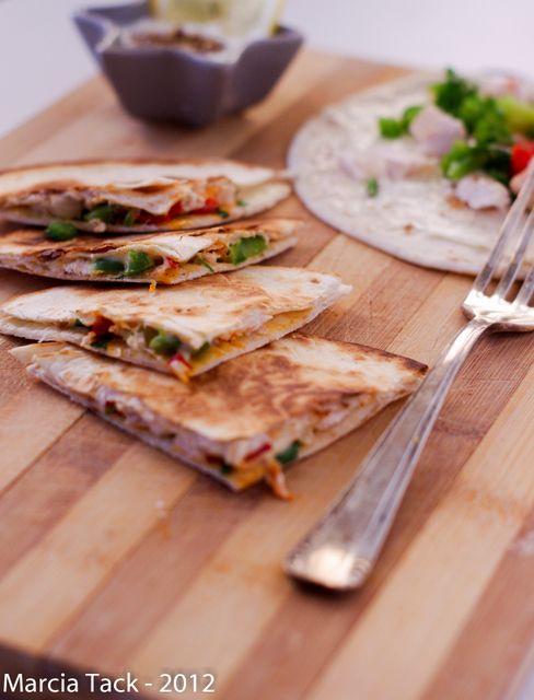 Quesadillas au poulet rôti et vache qui rit - Recette - Marcia 'Tack