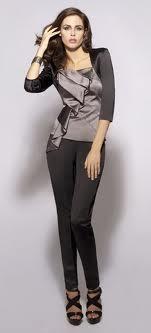 Повседневный деловой женский костюм фото