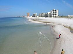 Panama City Beach, Florida with it's clear water and sugar white sand is the most beautiful beach in the world.