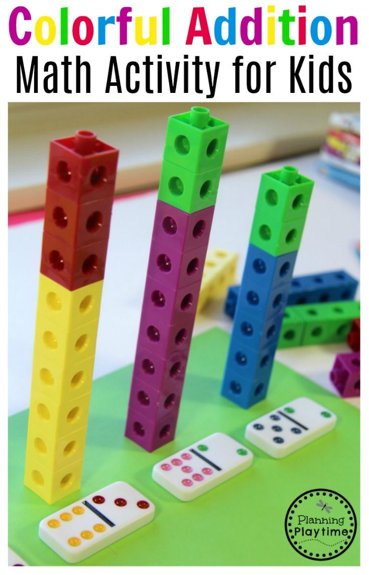 Kindergarten easy, fun and simple addition activity.  It's colorful, ready at a moment's notice, and the kids love it.