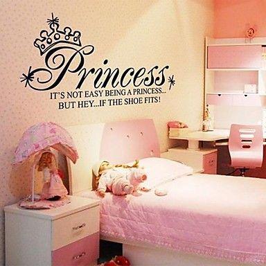 Doudouwo ® woorden en citaten The Princess Woorden muurstickers – EUR € 13.75