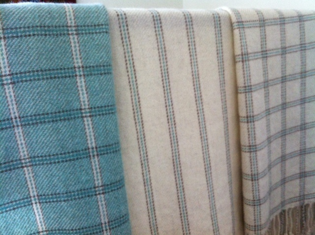 Warped Minds-Ramblings of a Weaver beautiful blankets.such a nice use of plaid
