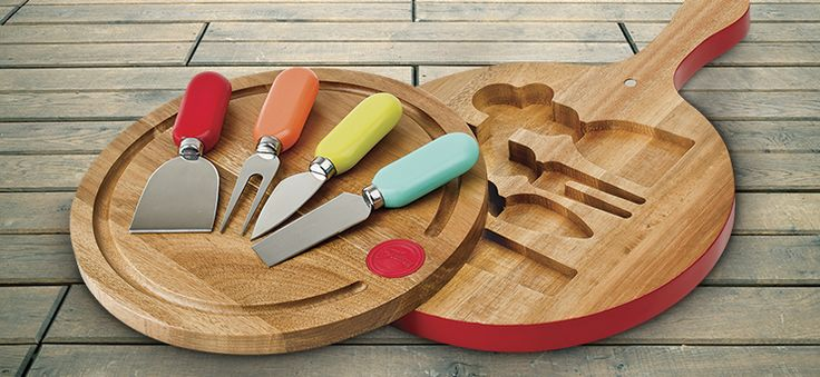 Fiesta Knife And Cheese Board Set. Holiday Entertaining In