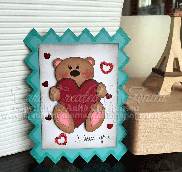 #valentine #hearts #MyScrapChick #postagecard #card #socute