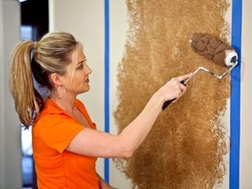 Painting Wall | faux-paint-wall-decorative-brown