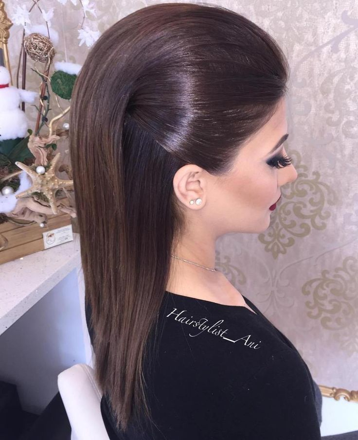 Formal Half Up Hairstyle For Medium Hair