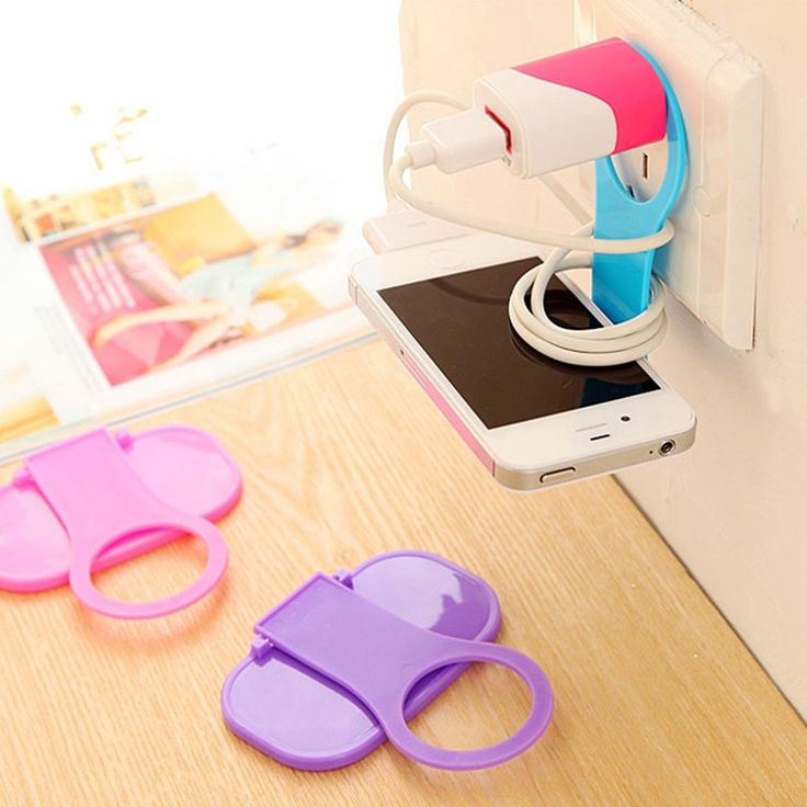 Cell Phone Holder Wall Charger