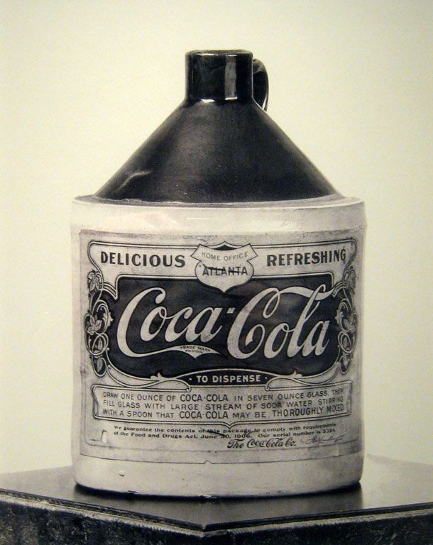 Coca-Cola syrup container from 1906, it was a few years after cocaine was removed from the formula, which was around 1903.