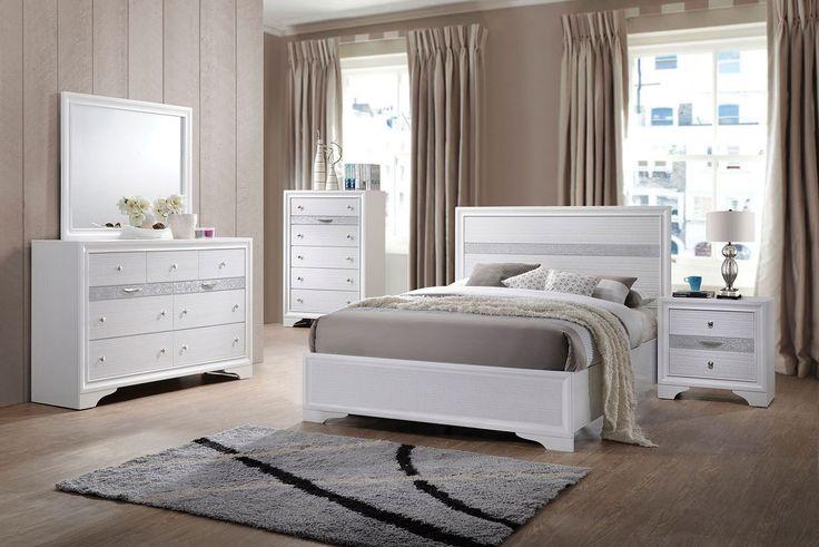 Best Naima Youth Panel Bedroom Set White White Bedroom Set 400 x 300