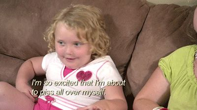 She knows how to appropriately react.   40 Reasons Honey Boo Boo Became A National Treasure In 2012
