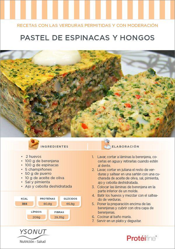Recetas de Dieta | Pastel de Espinacas y Hongos