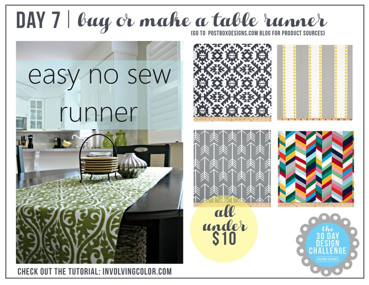 30 Day Design Challenge 7 Add A Table Runner DIY Project Dining