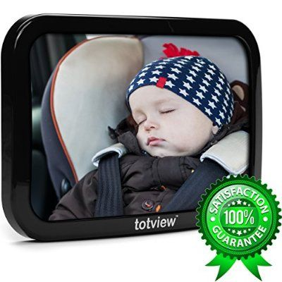Baby Car Mirror - BEST Baby Mirror For Rear Facing Car Seats | Perfect Back Seat View of Infant | Shatterproof Clear-Sight Mirror | Ultra-Strong Dual Safety Straps | PARENT TESTED | LIFETIME Guarantee