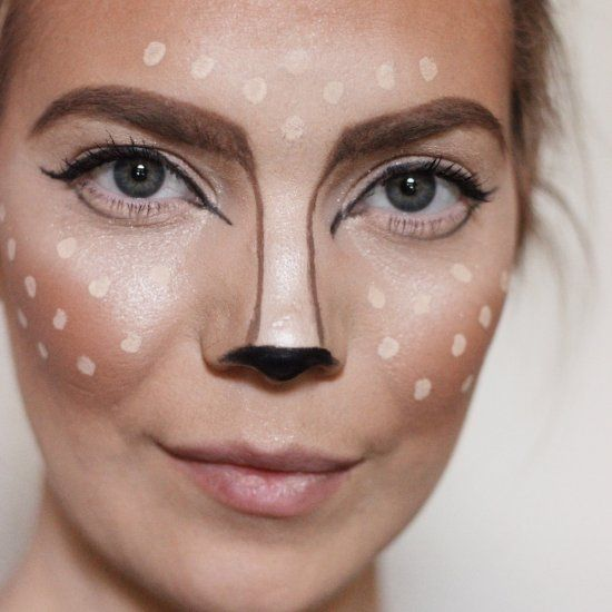 Need a cute costume in a pinch? How about this adorable deer makeup tutorial that will turn you into a foxy fawn in under 15 minutes!