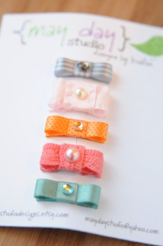 what to do with all those random ribbons #diy #barrette #ribbon #kids