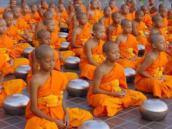 young novices   Group meditation, Buddhism, Buddhist monk