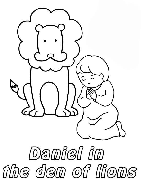bible coloring pages lions - photo#30