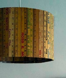 Items remade with old hardware rulers. I simply love http://styleitchic.blogspot.com.  There are so many creative ideas on this site.